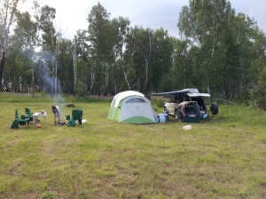 We were fortunate enough to stumble upon an unmarled but purpose-made campsite in the wilderness