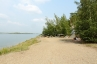 Relaxing on the beach of Lake Burabay