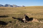 Failing at poo fires by  Song Kol Lake, Kyrgyztan